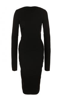 Облегающее платье-миди с открытой спиной Rick Owens