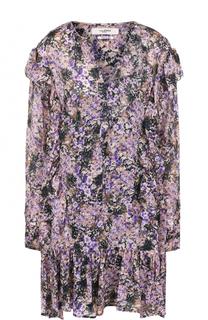 Мини-платье свободного кроя с цветочным принтом Isabel Marant Etoile