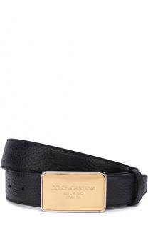 Кожаный ремень с металлической пряжкой Dolce & Gabbana