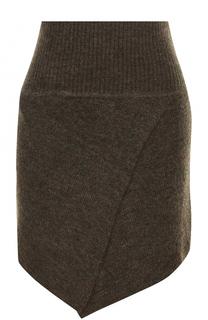 Шерстяная мини-юбка асимметричного кроя Isabel Marant Etoile