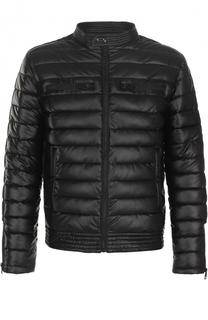 Стеганая куртка на молнии с воротником-стойкой Just Cavalli