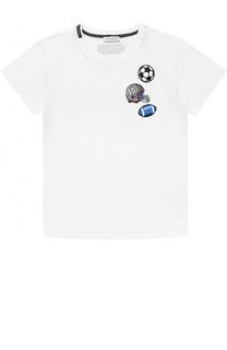 Хлопковая футболка с нашивками Dolce & Gabbana