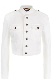 Укороченная джинсовая куртка с воротником-стойкой Ralph Lauren