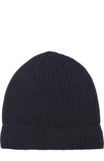 Шерстяная шапка фактурной вязки Canali