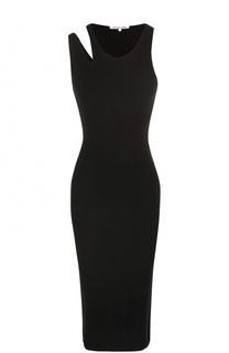 Вязаное облегающее платье-миди Helmut Lang