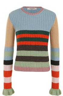 Приталенный пуловер фактурной вязки Valentino