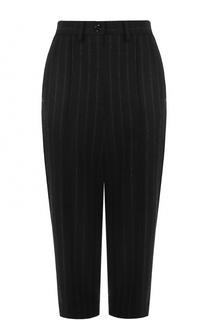 Укороченные шерстяные брюки в полоску Mm6