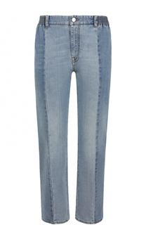 Укороченные джинсы прямого кроя с потертостями Stella McCartney