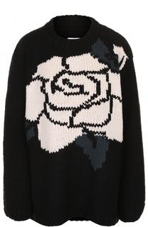 Пуловер свободного кроя с круглым вырезом Mm6