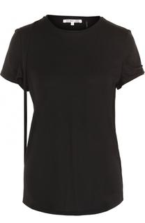 Хлопковая футболка с круглым вырезом Helmut Lang