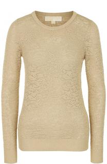 Пуловер фактурной вязки с круглым вырезом MICHAEL Michael Kors
