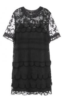 Полупрозрачное платье прямого кроя Burberry