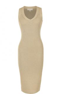 Вязаное платье-футляр с V-образным вырезом MICHAEL Michael Kors