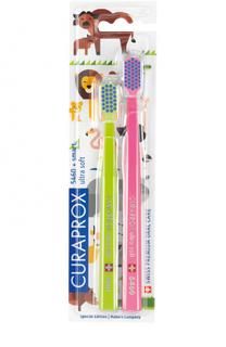Набор зубных щеток Ultrasoft Duo Animal Family Edition Curaprox
