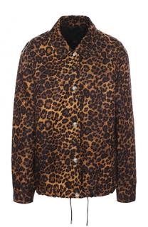 Куртка с отложным воротником и леопардовым принтом Alexander Wang