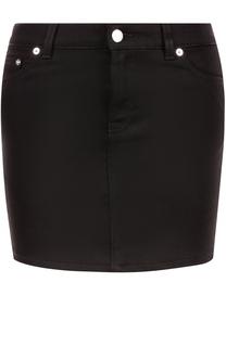 Джинсовая мини-юбка с контрастными звездами Givenchy
