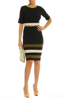 Платье с контрастными вставками снизу PAPER DOLLS
