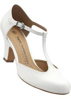 Кожаные туфли (белый) Bonprix