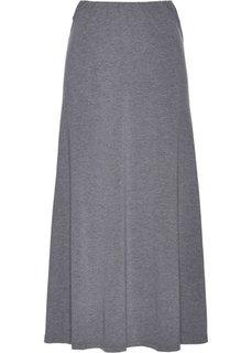 Длинная юбка-миди (серый меланж) Bonprix