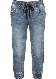 Стрейчевые джинсы на резинке, cредний рост (N) (синий) Bonprix
