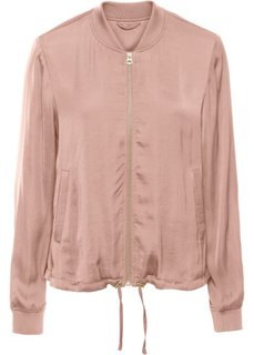 Куртка-бомбер из сатина (винтажно-розовый) Bonprix