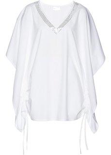 Удлиненная блузка (белый) Bonprix