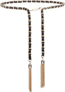 Ремень-цепочка (черный/золотистый) Bonprix