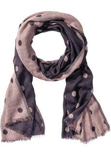 Двухсторонний шарф в горошек (телесный/серый в горошек) Bonprix