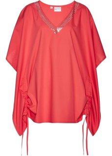Удлиненная блузка (омаровый) Bonprix