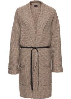 Вязаное пальто (светло-коричневый/коричневый) Bonprix