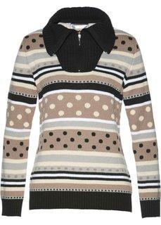 Пуловер (различные расцветки с узором) Bonprix