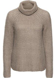 Пуловер (серо-коричневый меланж) Bonprix