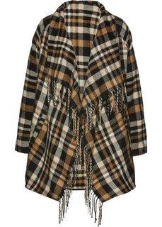 Куртка (черный/цвет белой шерсти/верблюжий в клетку) Bonprix