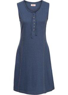 Трикотажное платье на пуговицах (индиго) Bonprix