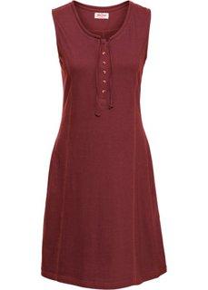 Трикотажное платье на пуговицах (красный каштан) Bonprix