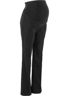 Широкие брюки из бенгалина для беременных, cредний рост (N) (черный) Bonprix