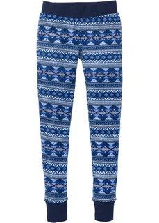 Трикотажные брюки (темно-синий с рисунком) Bonprix