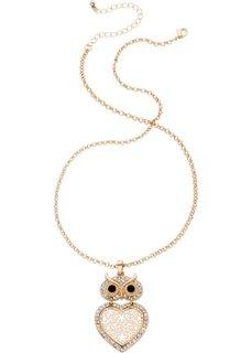 Цепочка с кулоном в форме совы (розово-золотистый) Bonprix