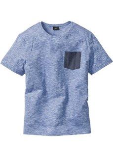 Футболка Regular Fit меланжевой расцветки (синий меланж) Bonprix