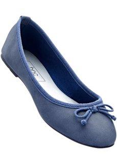Балетки (синий джинсовый) Bonprix