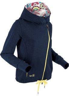 Трикотажная куртка с асимметричной застежкой-молнией (темно-синий) Bonprix
