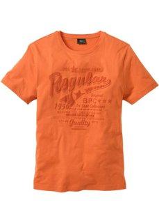 Традиционная футболка с коротким рукавом (оранжевый) Bonprix