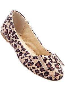 Балетки (леопардовый бежевый) Bonprix