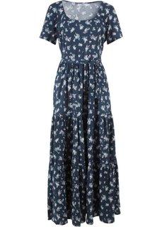 Платье с коротким рукавом (темно-синий в цветочек) Bonprix