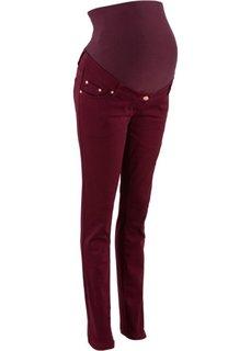 Мода для беременных: джинсы-скинни (темно-бордовый) Bonprix