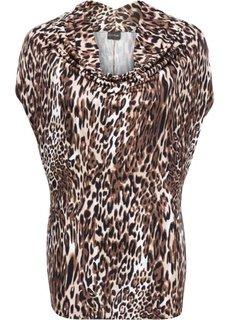 Удлиненная футболка (с леопардовым рисунком) Bonprix