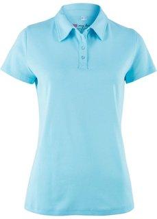 Футболка-поло с коротким рукавом (синий топаз) Bonprix