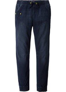 Спортивные брюки, имитация денима (темно-синий) Bonprix