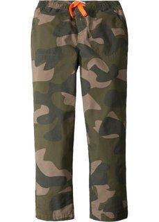 Прочные быстросохнущие брюки-чиносы с эластичным поясом (оливковый/камуфляжный) Bonprix