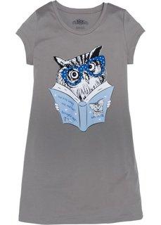 Ночная рубашка (серый с рисунком) Bonprix